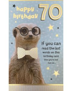 AGE 70 - Meerkat 'not that old'