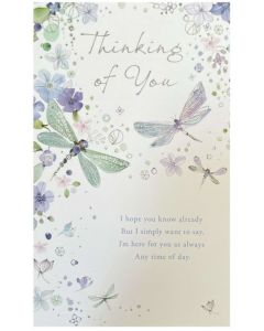 Thinking of You - Dragonflies & flowers