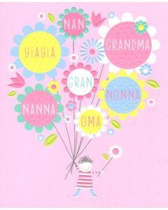 Grandmother Birthday - Grandma, Nan, Nonna, Oma, Yiayia