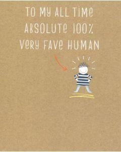 Birthday Card - Fave Human