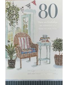 AGE 80 - Room with wicker chair