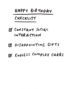 BIRTHDAY - Birthday Checklist