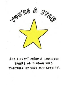 'You're a STAR' Greeting Card