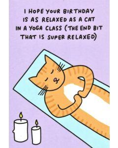 BIRTHDAY - Yoga Cat