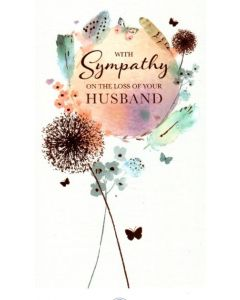 Sympathy Loss of Husband - Feathers & Butterflies