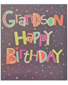 GRANDSON Card - Night Sky