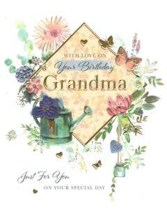 Grandma Birthday - Flowers & Watering Can