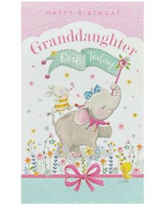 AGE 1 Granddaughter - Bunny riding elephant