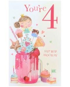 AGE 4 Card - Sweet Fairy