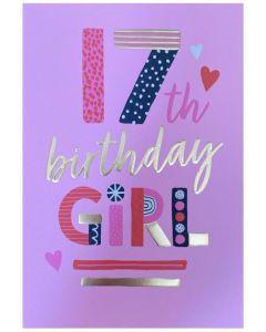AGE 17 - 'Birthday Girl' on pink