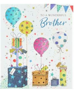 BROTHER Card - Presents & Balloons