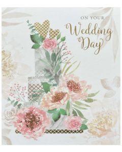 Wedding - Tiered cake & flowers