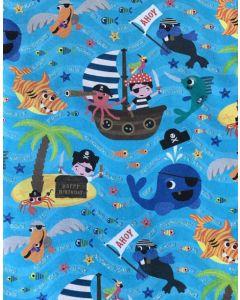 Wrapping paper - Pirates, sea creatures & treasure