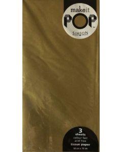 Tissue Paper - Metallic GOLD (3 sheets)
