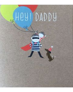 DADDY Birthday - 'Hey Daddy' with balloons