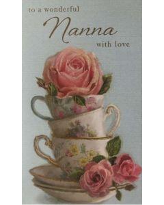 Nanna Birthday - Roses & teacups