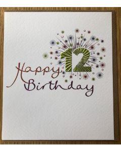 Age 12 Birthday celebration