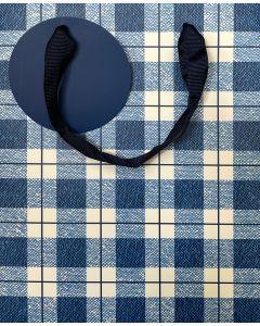 Gift Bag (Medium) - Blue check