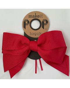 Ribbon Bow - Red Grosgrain Bow