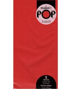Tissue Paper - RED (5 sheets)