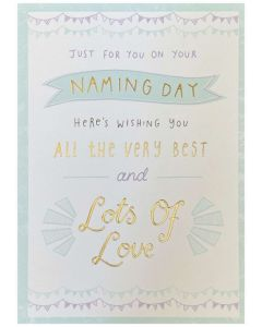 Naming Day - Pastel colours 'Lots of Love'
