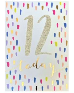 AGE 12 Card - Sparkly 12