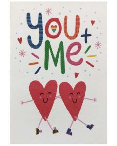 Valentine Card - You + Me