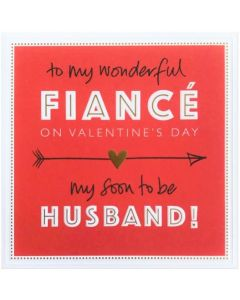 Valentine Card - Wonderful FIANCE