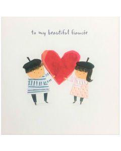 Valentine Card - Beautiful FIANCEE