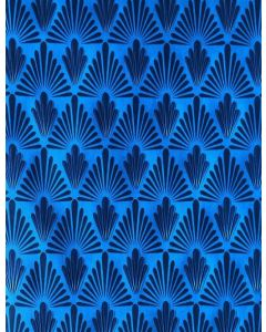 Folded Wrapping Paper - Blue Pattern
