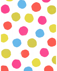 Folded Wrapping Paper - Coloured Spots