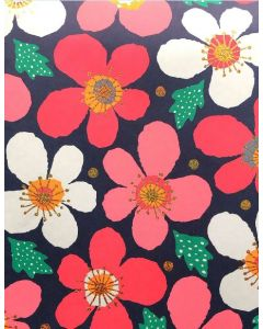Folded Wrapping Paper - Poppies