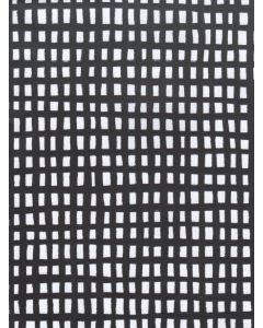 Folded Wrapping Paper - Black Grid