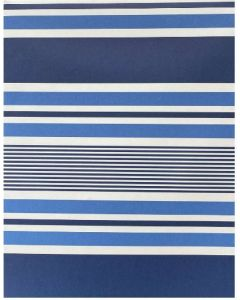 Folded Wrapping Paper - Navy & White Stripes