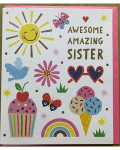 Sister Birthday - Awesome Amazing Sister