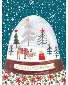 Seasons Greetings Snowdome Christmas Card