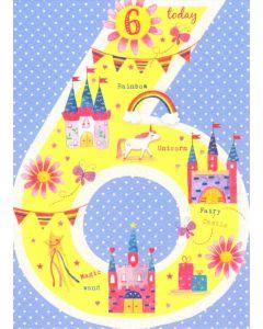 AGE 6  Card - Fairy Castles