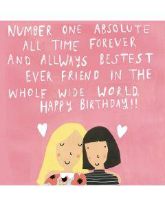 Birthday Card - Bestest Ever Friend