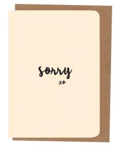 'Sorry' Card