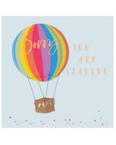 Sorry you are Leaving - Hot air balloon