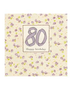 '80 - Happy Birthday' Card