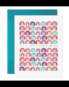Greeting Card - Happy Rainbows