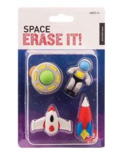 Space erase it! Set of 4 erasers