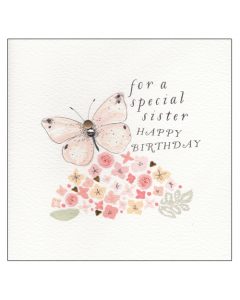 'For a Special Sister Happy Birthday' Card