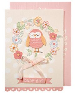 BABY Girl - Owl & pink bow