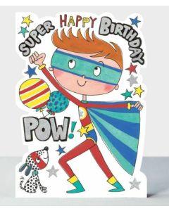 Birthday Card - Super Happy