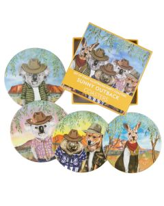 Sunny Outback Coasters - set of 8