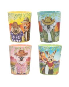 Sunny Outback Melamine Cups - set of 4