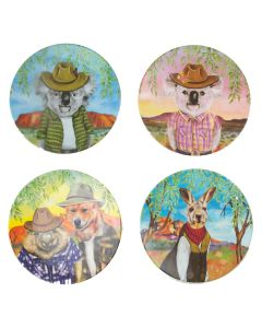 Sunny Outback melamine plates - set of 4