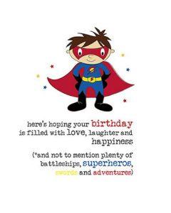 Birthday - ...Superhero, swords and adventures'